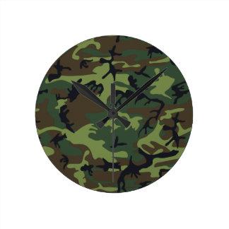 Army Camo Round Clock