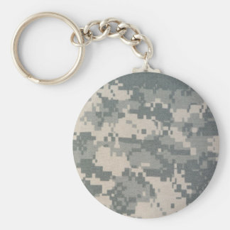 Army Camouflage ACU Pattern Basic Round Button Key Ring