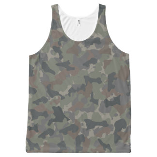 Army camouflage All-Over print tank top