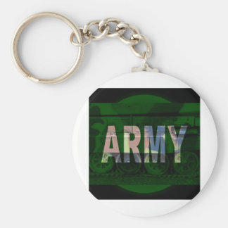 army camouflage basic round button key ring