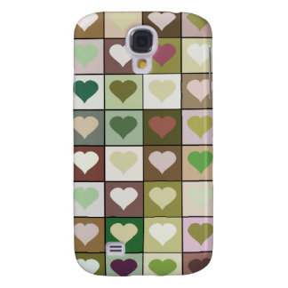 Army camouflage color Heart pattern Galaxy S4 Case