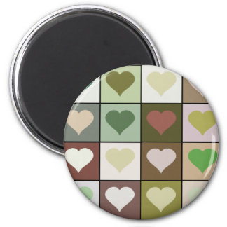 Army camouflage color Heart pattern Magnet
