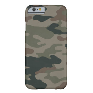 Army Camouflage in Green and Brown Military iPhone Barely There iPhone 6 Case