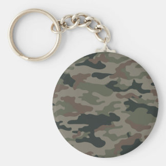Army Camouflage in Green and Brown Military Key Ring