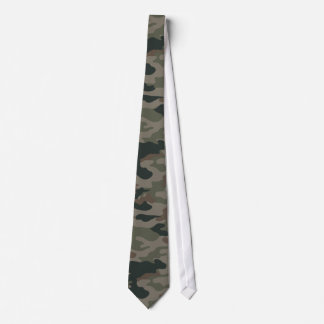Army Camouflage in Green and Brown Military Tie