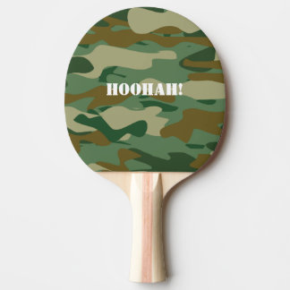 Army camouflage ping pong paddle for table tennis