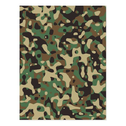Army camouflage postcards