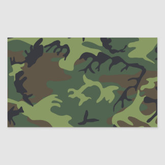Army camouflage rectangular sticker