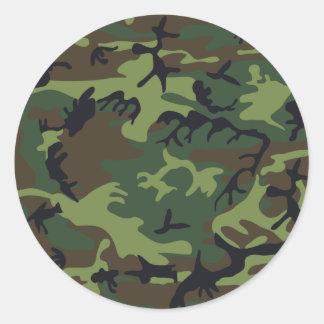 Army camouflage round sticker