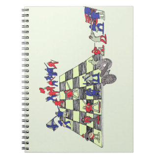 Army Chess Spiral Note Book
