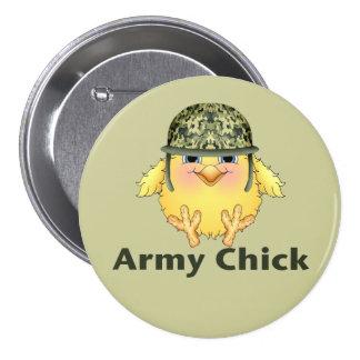 Army Chicks Pinback Button