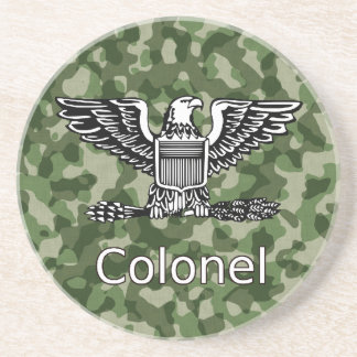 Army Colonel Camoflage Coaster