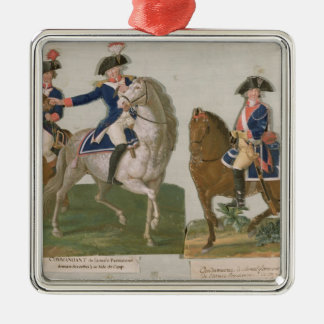 Army Commander and an Officer Christmas Ornament