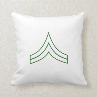 Army Corporal Rank Insignia Pillow