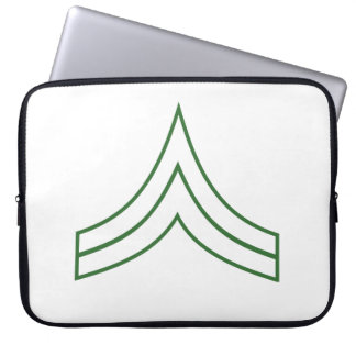 Army Corporal Rank Insignia Laptop Sleeves