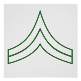 Army Corporal Rank Insignia Poster