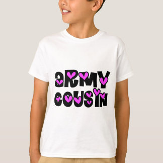 Army Cousin Pink Heart T-Shirt