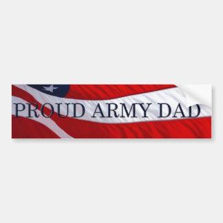 Army Dad American Flag Bumper Sticker Car Bumper Sticker