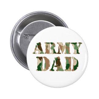 Army Dad camo 6 Cm Round Badge
