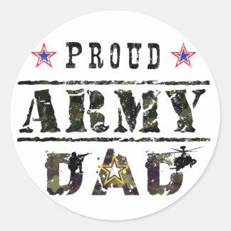 Army Dad Classic Round Sticker