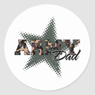 Army Dad Round Sticker