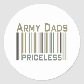 Army Dads Priceless Bar Code Round Stickers