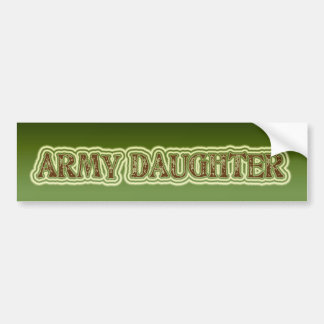 Army Daughter Bumper Sticker