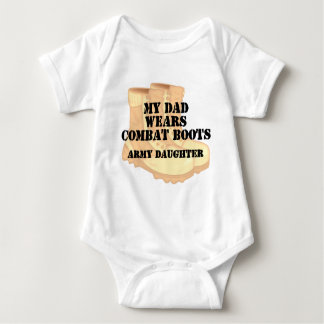 Army Daughter Dad wears DCB.png Baby Bodysuit