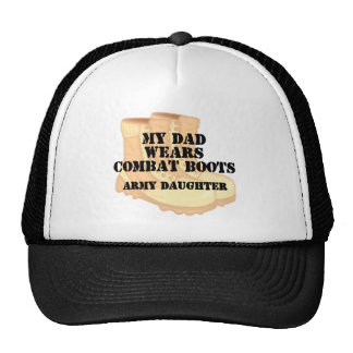 Army Daughter Dad wears DCB.png Trucker Hat