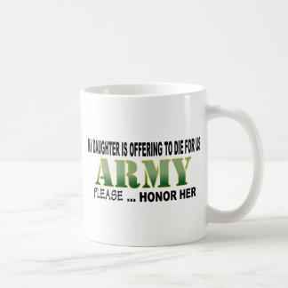 Army Daughter Offering Coffee Mug