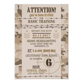 Army Desert Camouflage Military Birthday Card