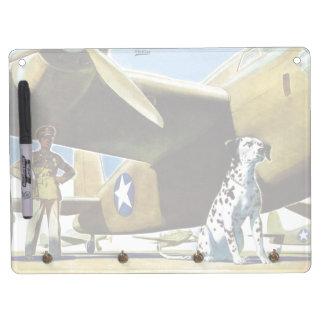 Army Dog Dry Erase Board