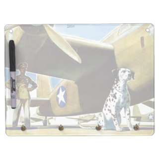 Army Dog Dry Erase Board With Key Ring Holder