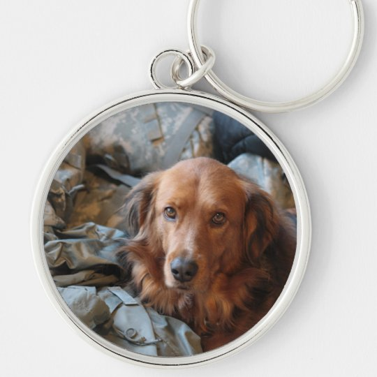 Army Dog Keychain