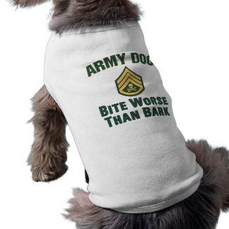 Army Dog, skull and crossbones Shirt