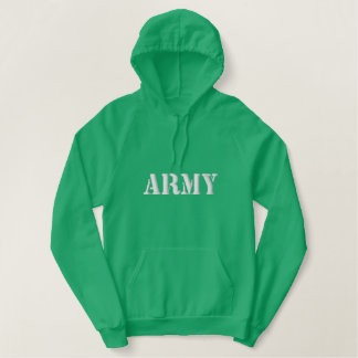 Army Embroidered Hoodie