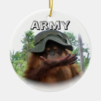 Army Fan Cute Christmas Ornament