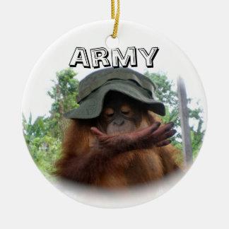 Army Fan Cute Round Ceramic Decoration