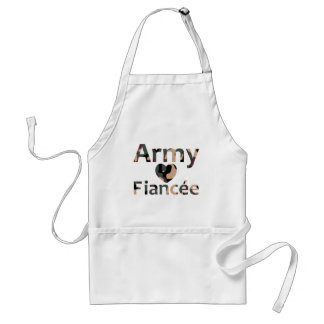 Army Fiancee Camo Heart Standard Apron