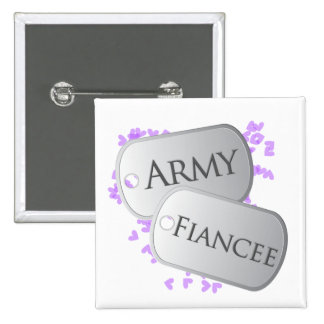 Army Fiancee Dog Tags 15 Cm Square Badge