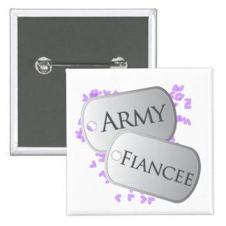 Army Fiancee Dog Tags 15 Cm Square Badge