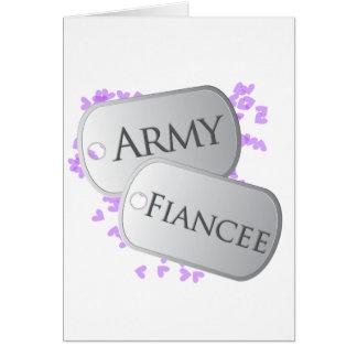 Army Fiancee Dog Tags Cards