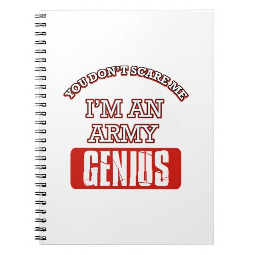 Army genius spiral notebook