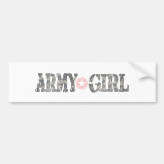 ARmy Girl Camo Bumper Sticker