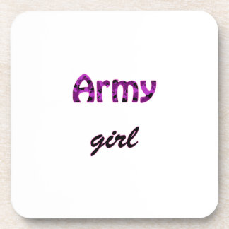 Army Girl Drink Coasters