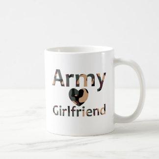 Army Girlfriend Camo Heart Basic White Mug