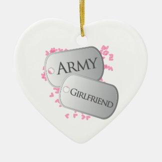 Army Girlfriend Christmas Ornament