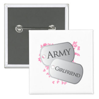 Army Girlfriend Dog Tags 15 Cm Square Badge