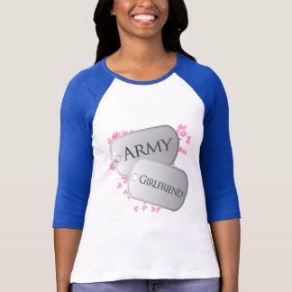 Army Girlfriend Dog Tags T-Shirt