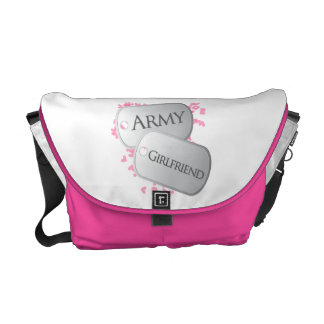 Army Girlfriend Military Dog Tags Courier Bags